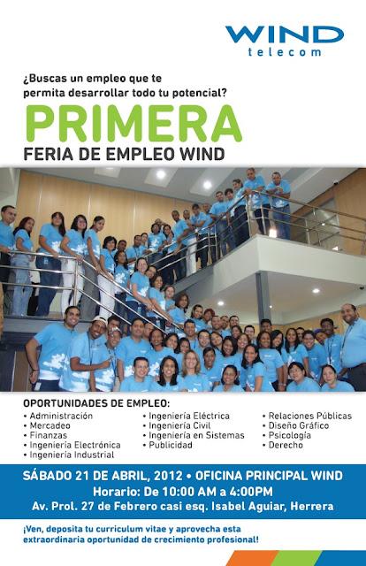 Feria de empleos windtelecom for Que oficina de empleo me corresponde