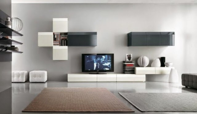 emejing modern wall units for living room images - awesome design