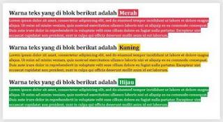 Cara Merubah Warna Teks Blog Saat Di Blok
