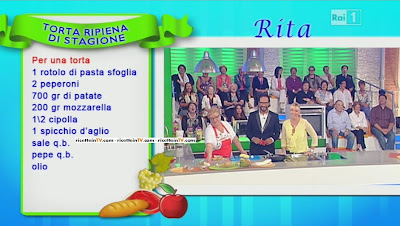 LA PROVA DEL CUOCO - RICETTA TORTA RIPIENA DI STAGIONE - RITA TESA - 17\09\2013