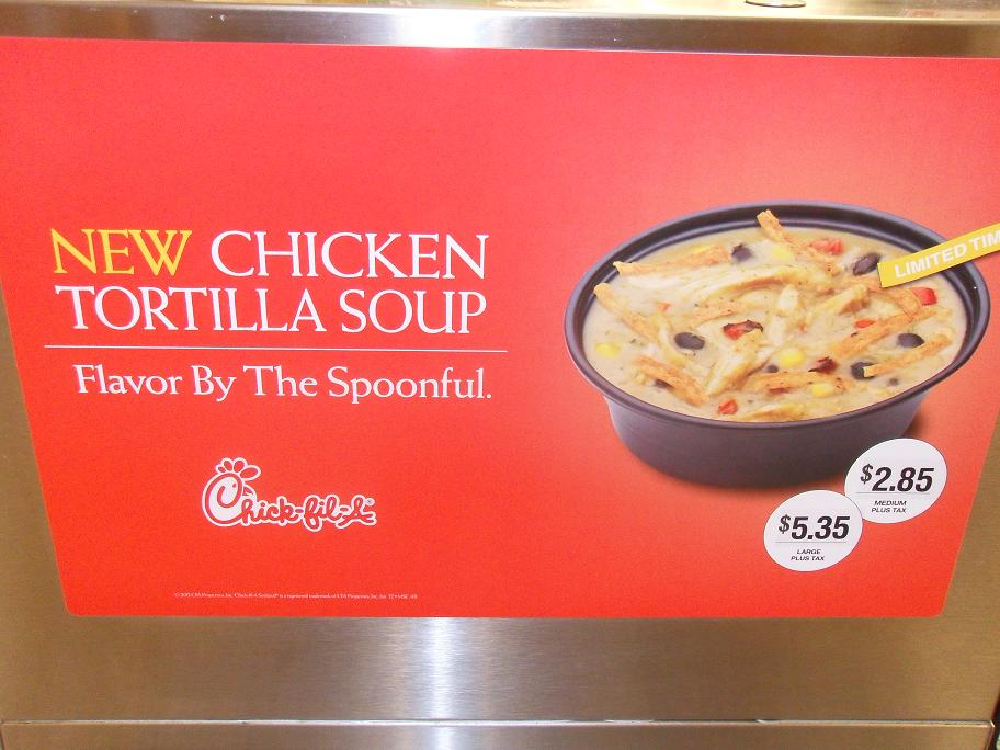 cups  cakes chickfila chicken tortilla soup review