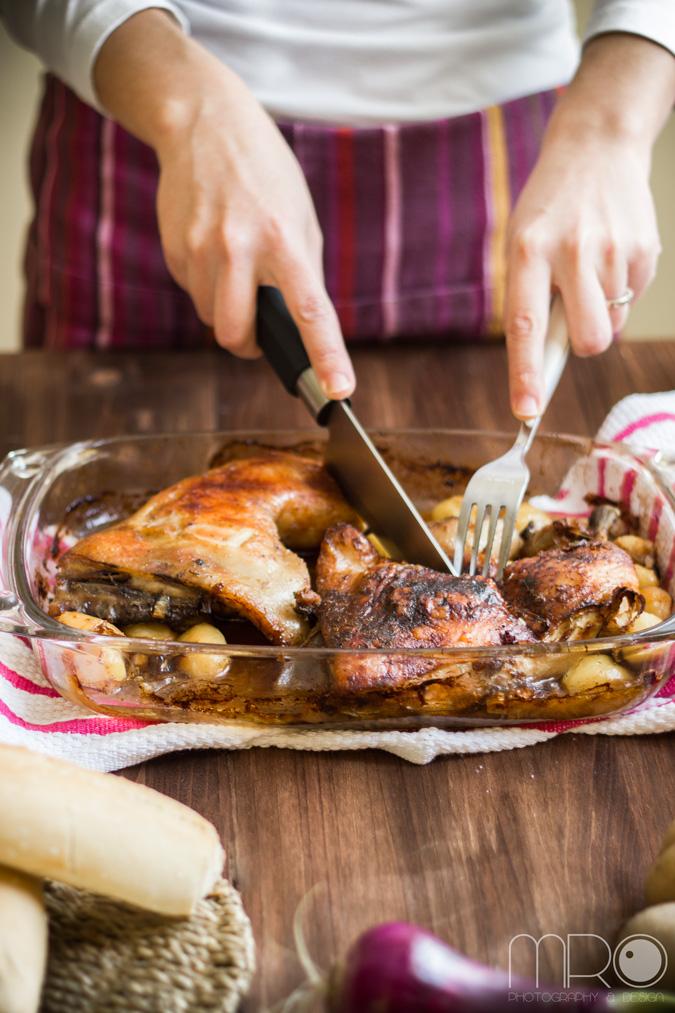 Pollo al jengibre- cocinando espero