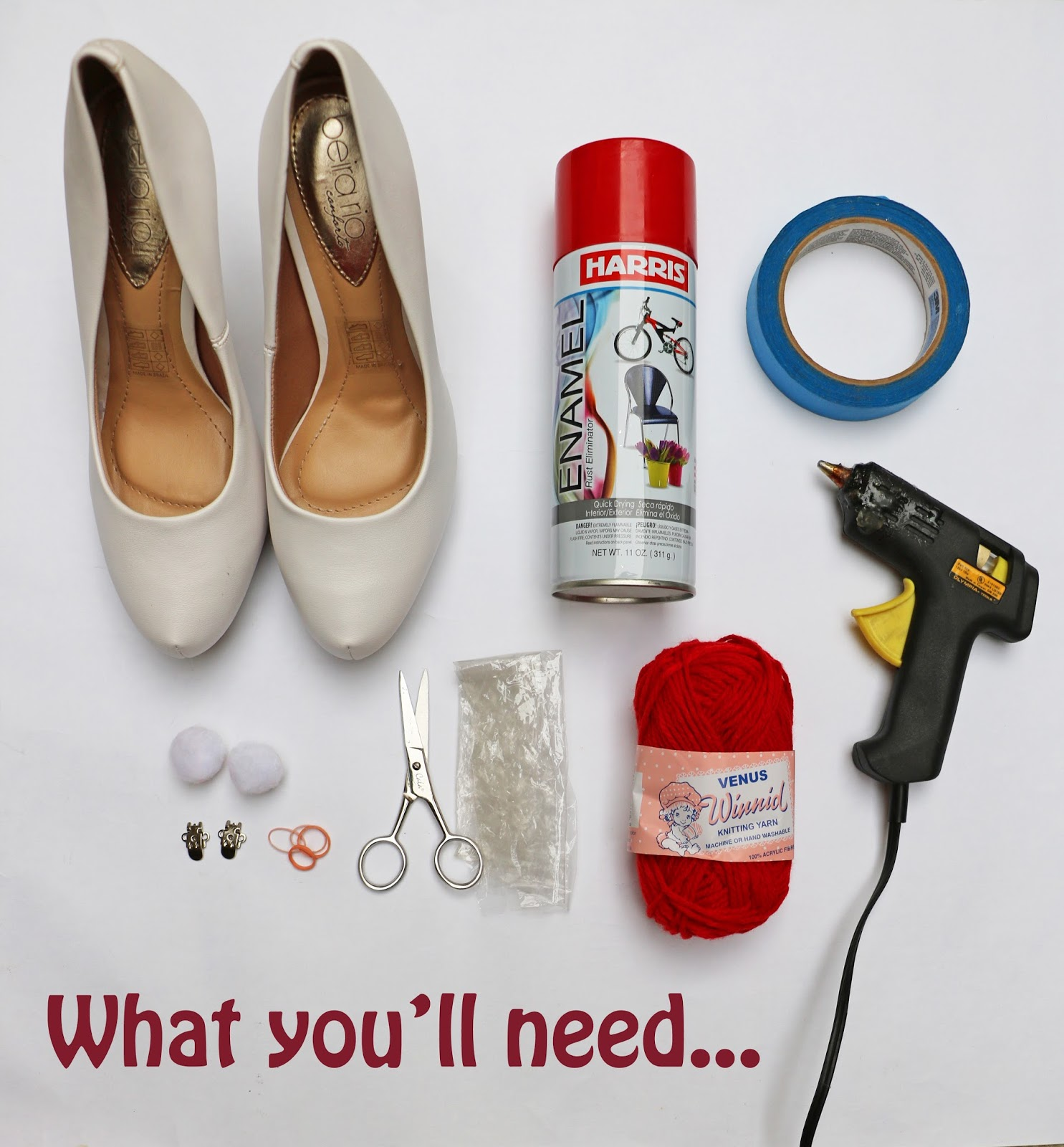 Make adorable Christmas Peppermint Heels with these supplies! Step by step tutorial on the blog