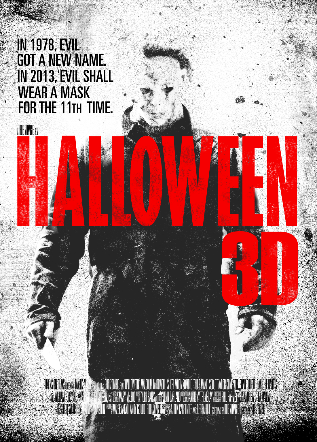 the horrors of halloween: fan made halloween 3d posters