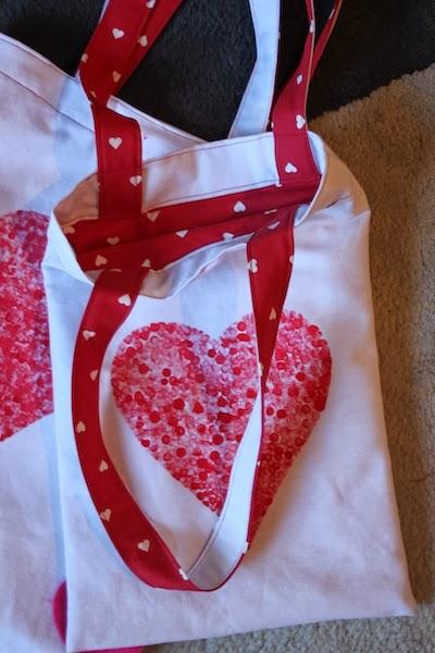 Estarcido de corazón en bolsa