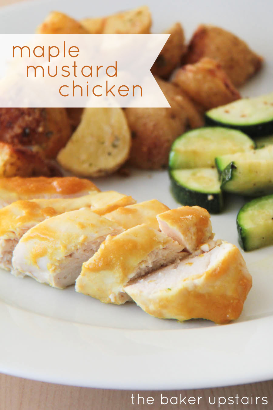 the baker upstairs: maple mustard chicken