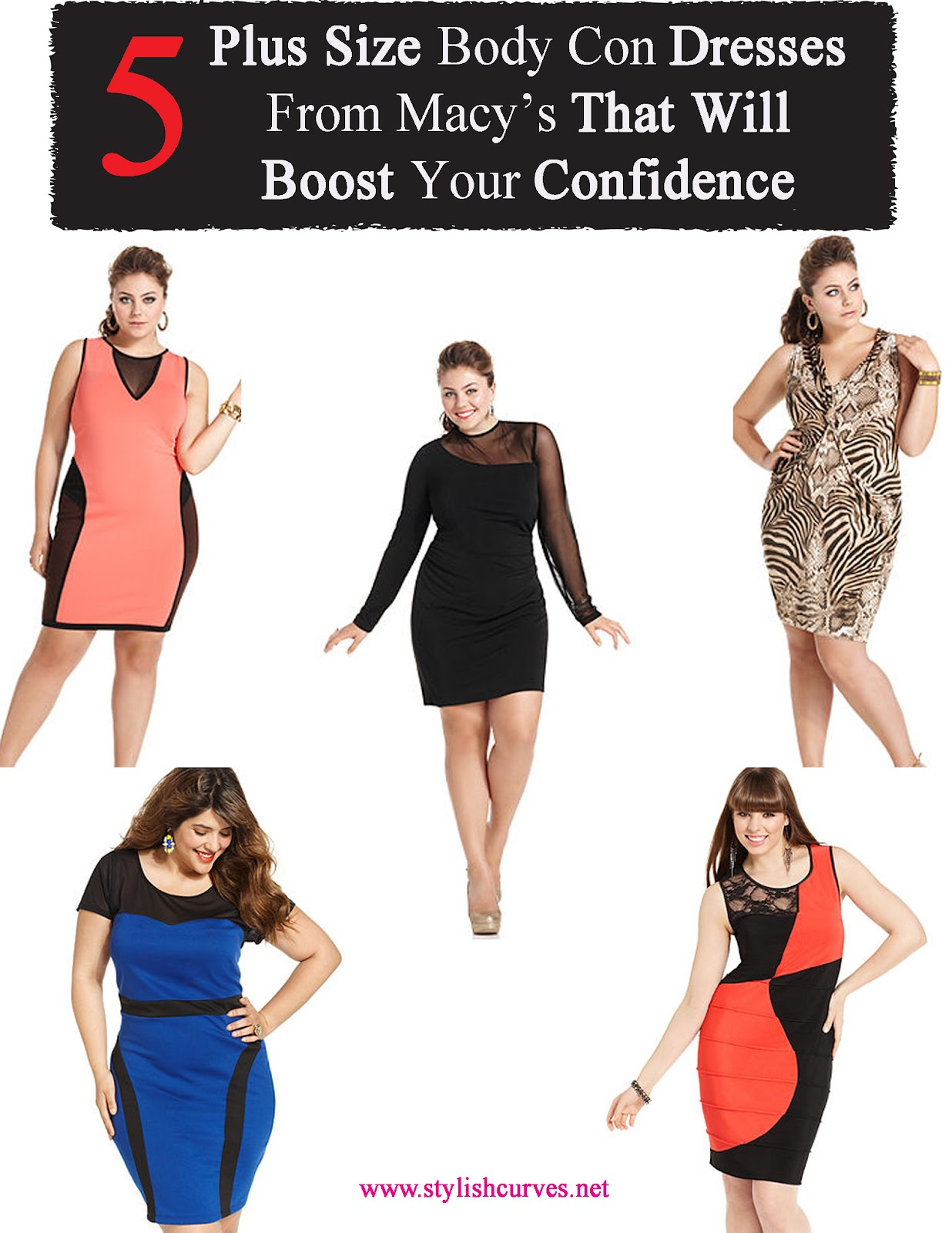 PLUS SIZE STYLE: 5 PLUS SIZE BODY CON DRESSES FROM MACY\'S THAT WILL ...