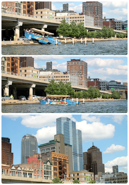 By land and then by water, Just Ducky Tours is the best way to tour the city of Pittsburgh. #kidsburgh #lovepgh