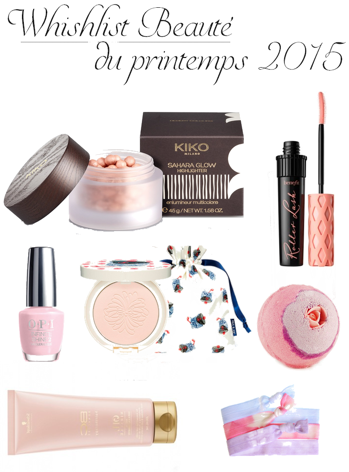 Wishlist beauté du Printemps rose OPI Lush Kiko Benefit