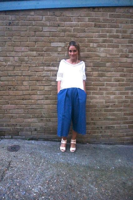 chloeschlothes - pantalon culotte jean