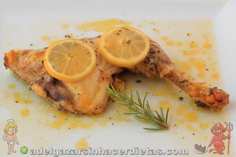Receta saludable y fácil de Pollo al limón bajo en calorías, apto para diabéticos y bajo en colesterol y apta para diabéticos. COCINA FÁCIL Y SANA.