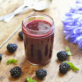 This fresh blackberry syrup can be used on snow cones and an array of other fun desserts