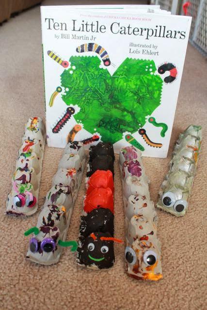 Bill Martin Jr. TEN LITTLE CATERPILLARS activty via www.happybirthdayauthor.com