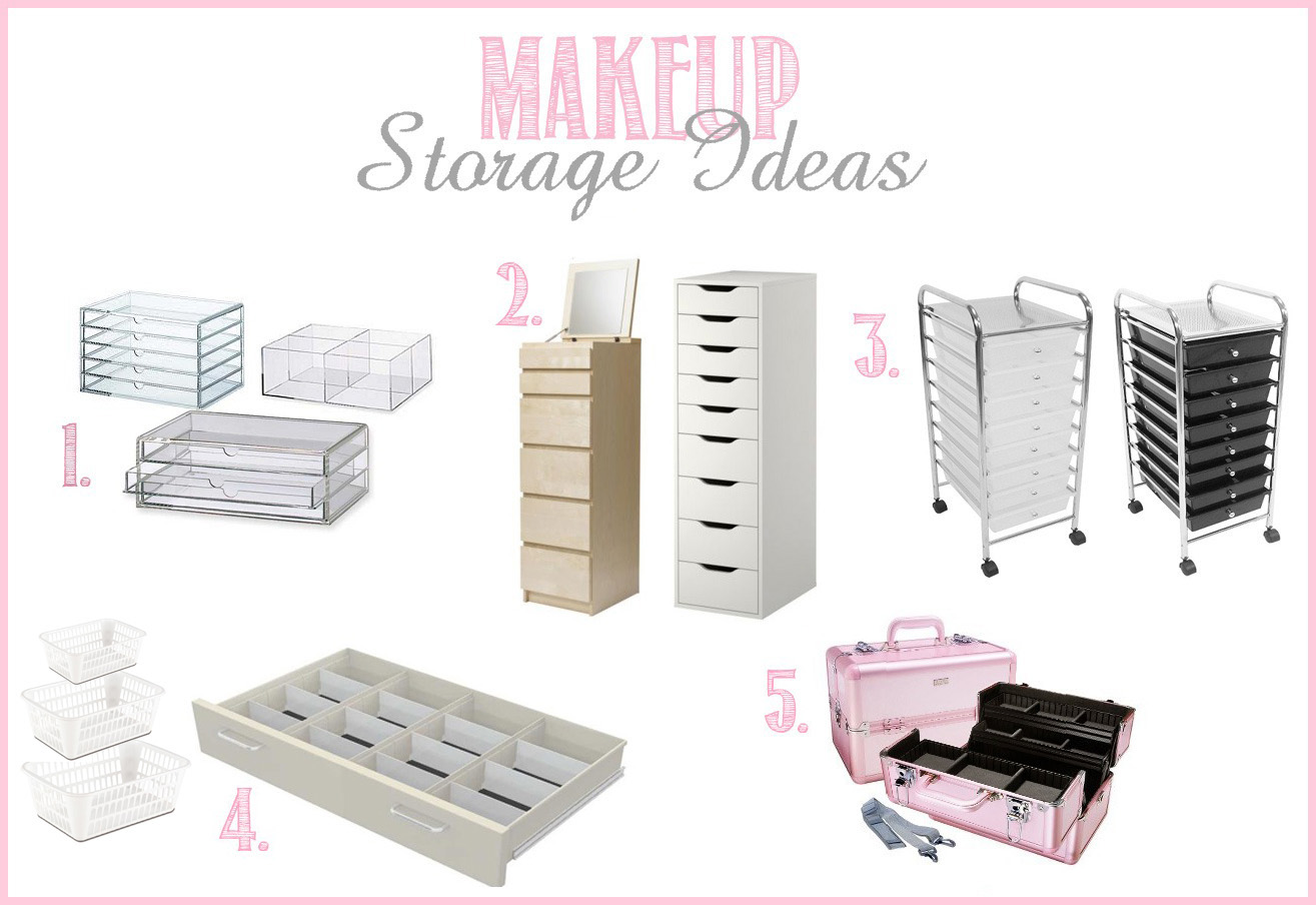 Makeup Collection Storage Ideas Beautiful Solutions