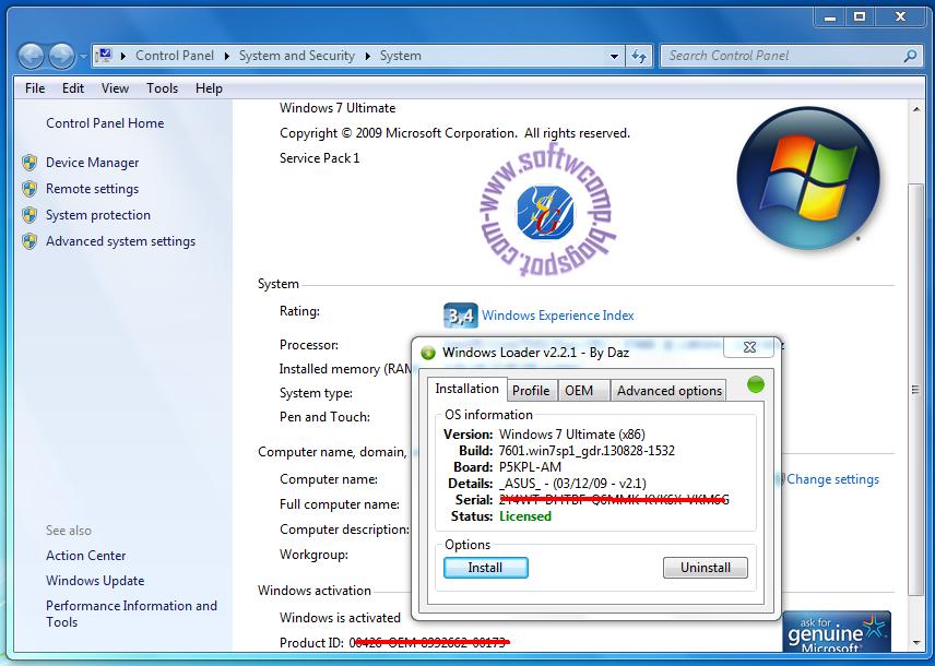 download windows loader for windows 7 ultimate sp1