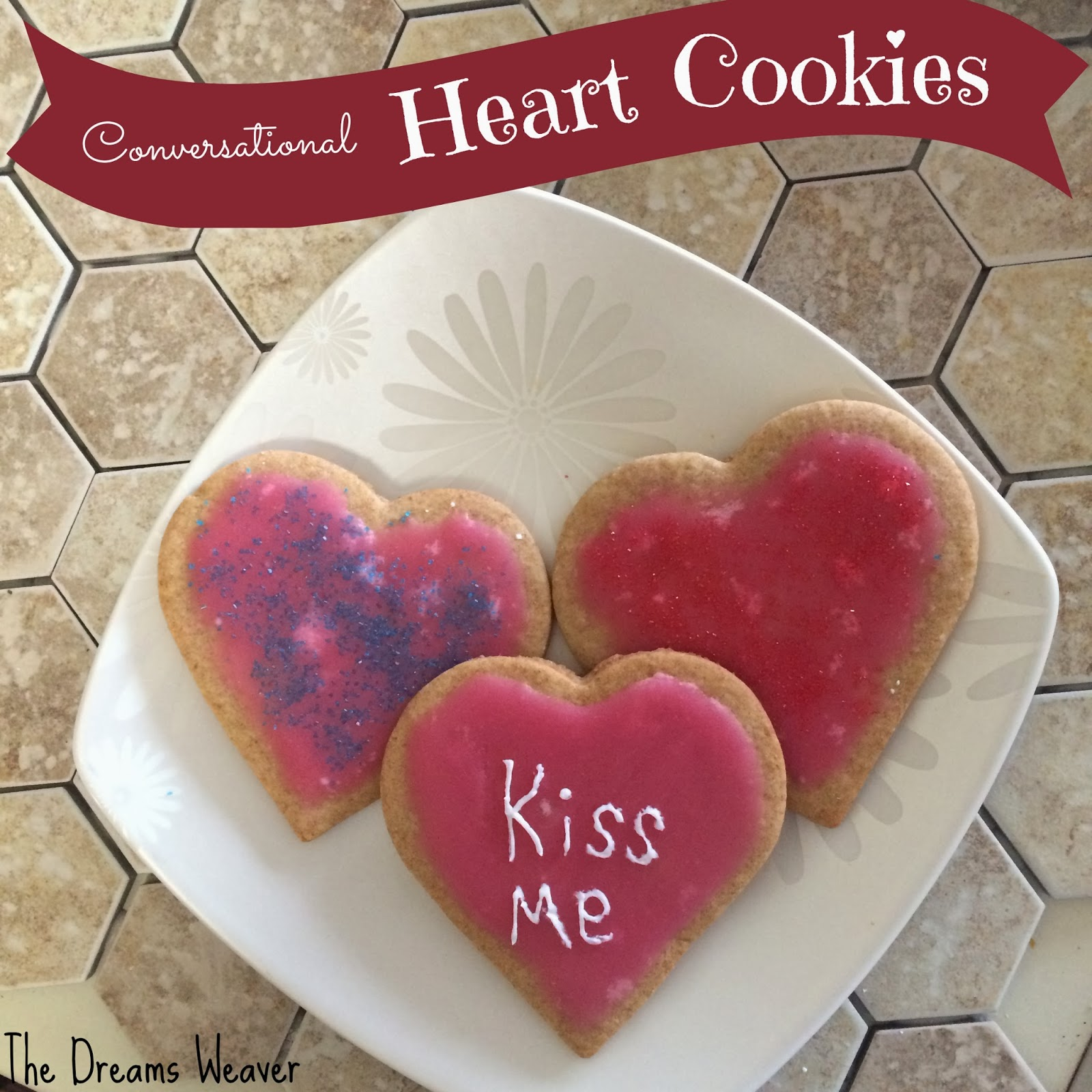 Conversational Heart Cookies