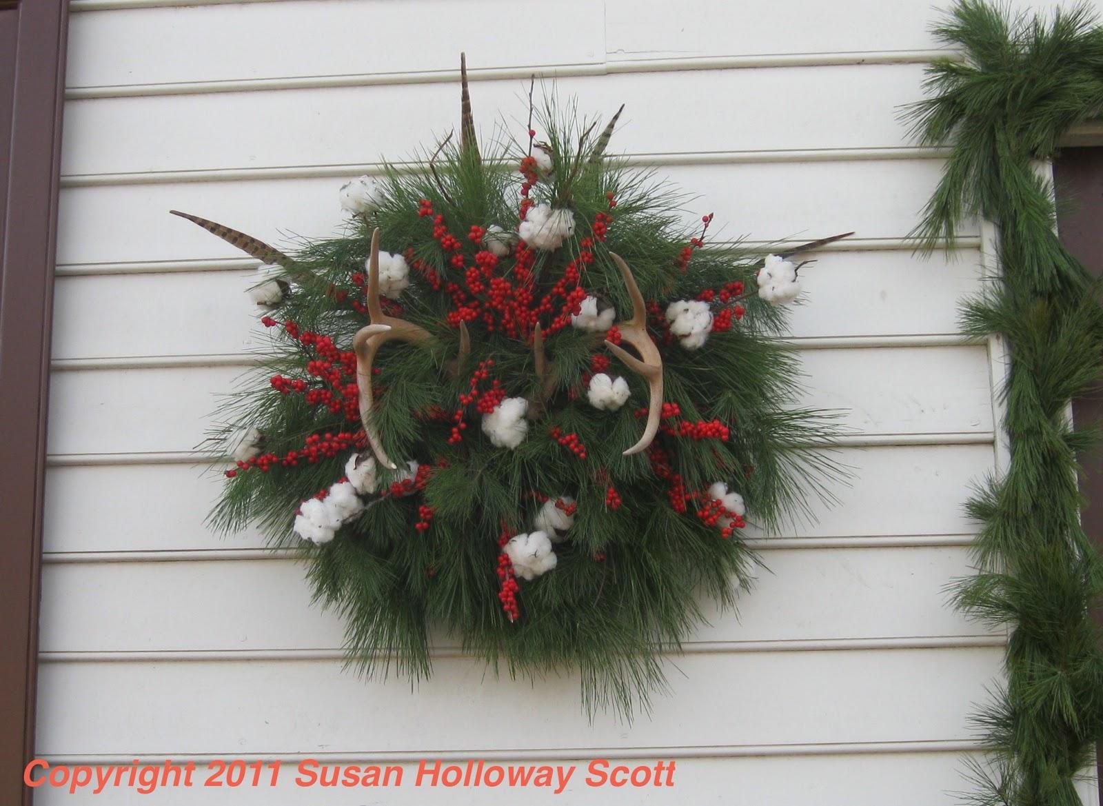 Two nerdy history girls december 2011 for Antler christmas wreath