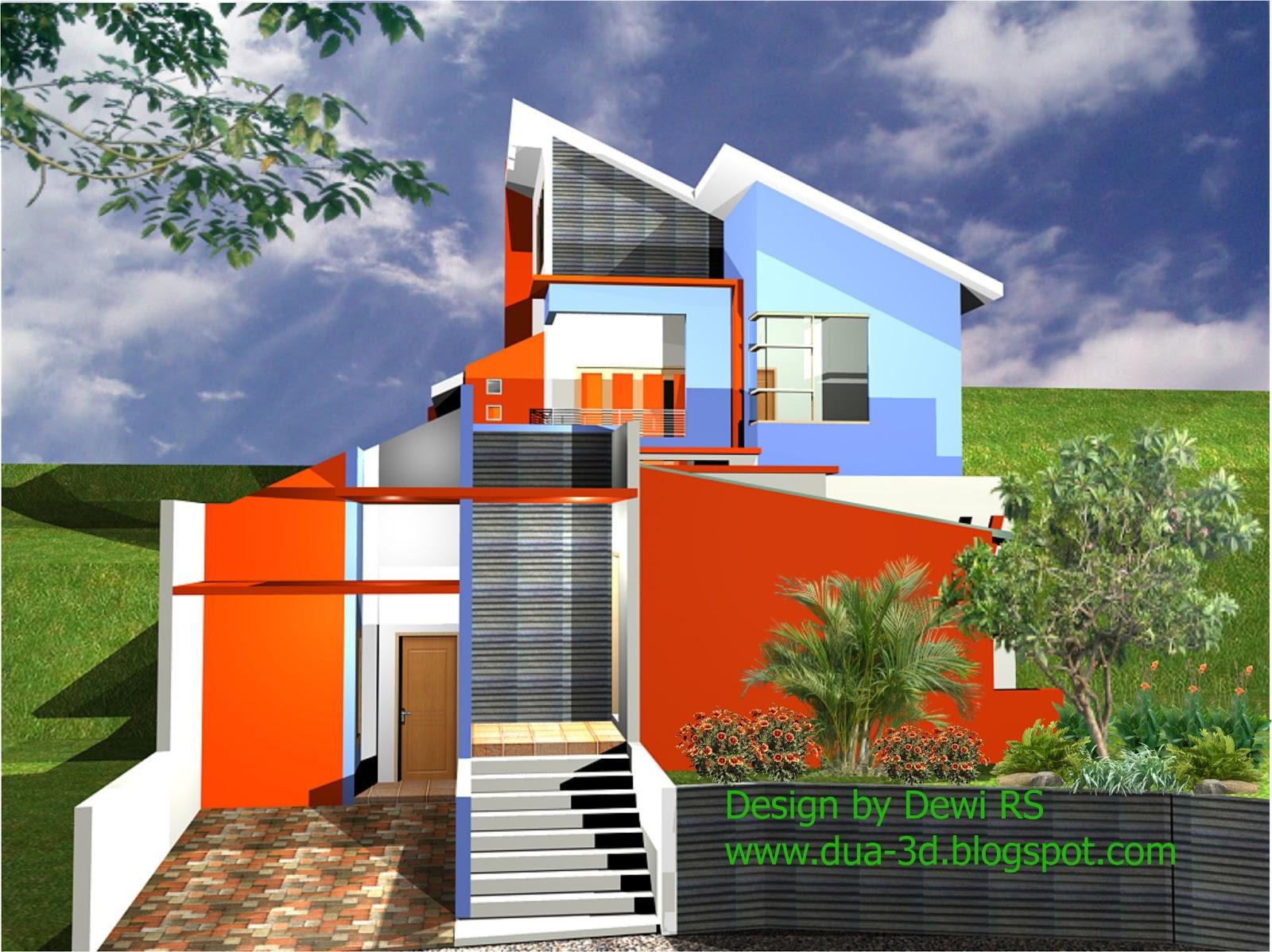 Disain sangat fleksibel baik untuk disain rumah minimalis modern maupun gaya yang lain sesuai dengan kondisi lahan serta keinginan Anda. & Jasa Disain Gambar 2D/3D dan Kursus AutoCAD: Jasa desain rumah