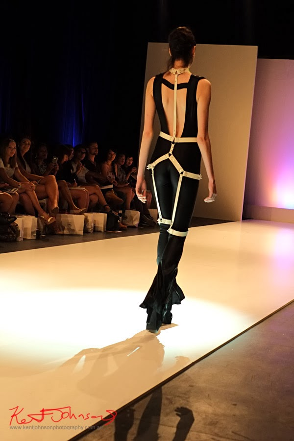 Victoria McGuigan, Bondage pantsuit - New Byzantium : Raffles Graduate Fashion Parade 2013 - Photography by Kent Johnson.