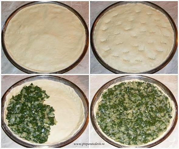 preparare placinta de spanac de post cu ceapa, retete placinta, reteta placinta, retete culinare, retete de post, placinta de post, retete cu spanac, preparate din spanac,