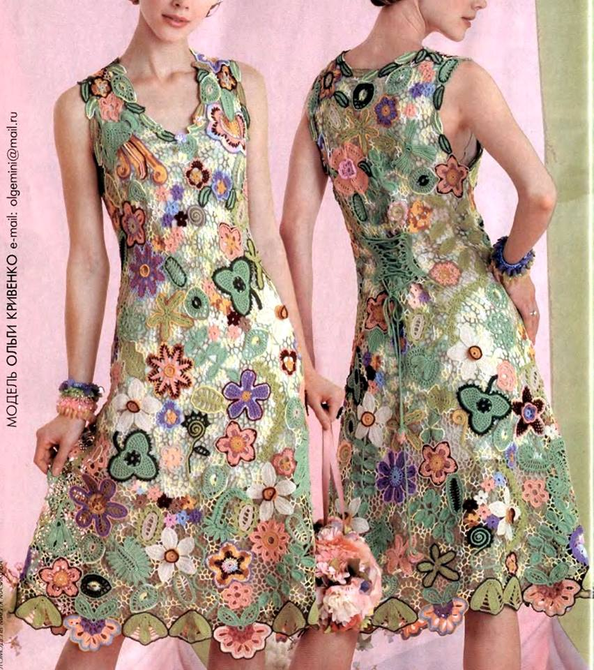 Irish Crochet Dress Free Patterns : Irish crochet &: DRESS. IRISH CROCHET