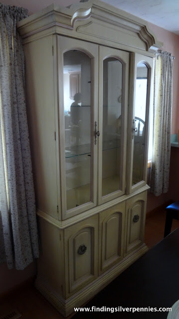 Juliet China Cabinet Before Amp After Finding Silver Pennies