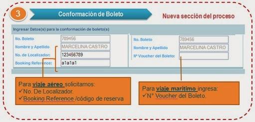Conformar Boletos, Numero de Localizador, Localizador, ETKT, NBR, Booking Reference, Codigo de Reserva, Numero de Voucher, Voucher