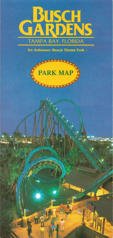 this weeks vault piece is the parks guide map from 1995 when one of busch gardens tampas largest coasters was still the big news in its junior season