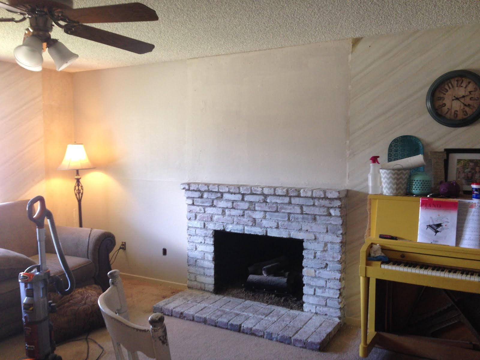 mothering with creativity how to white wash a fireplace and