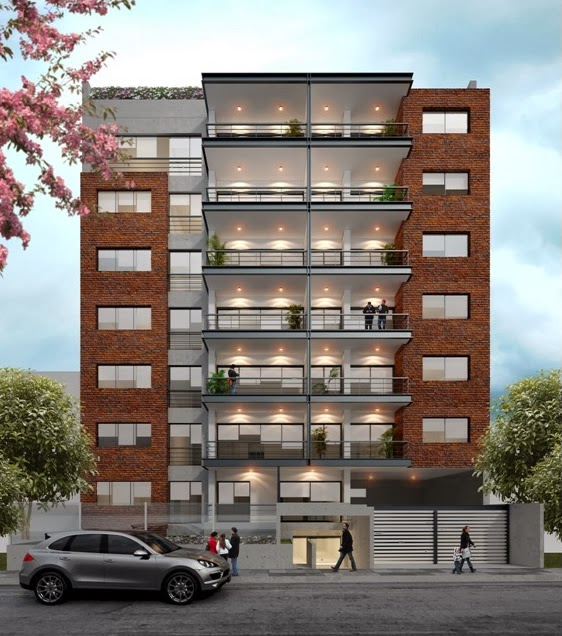 Edificio jos gonzales miraflores lima per for Fachadas modernas para departamentos