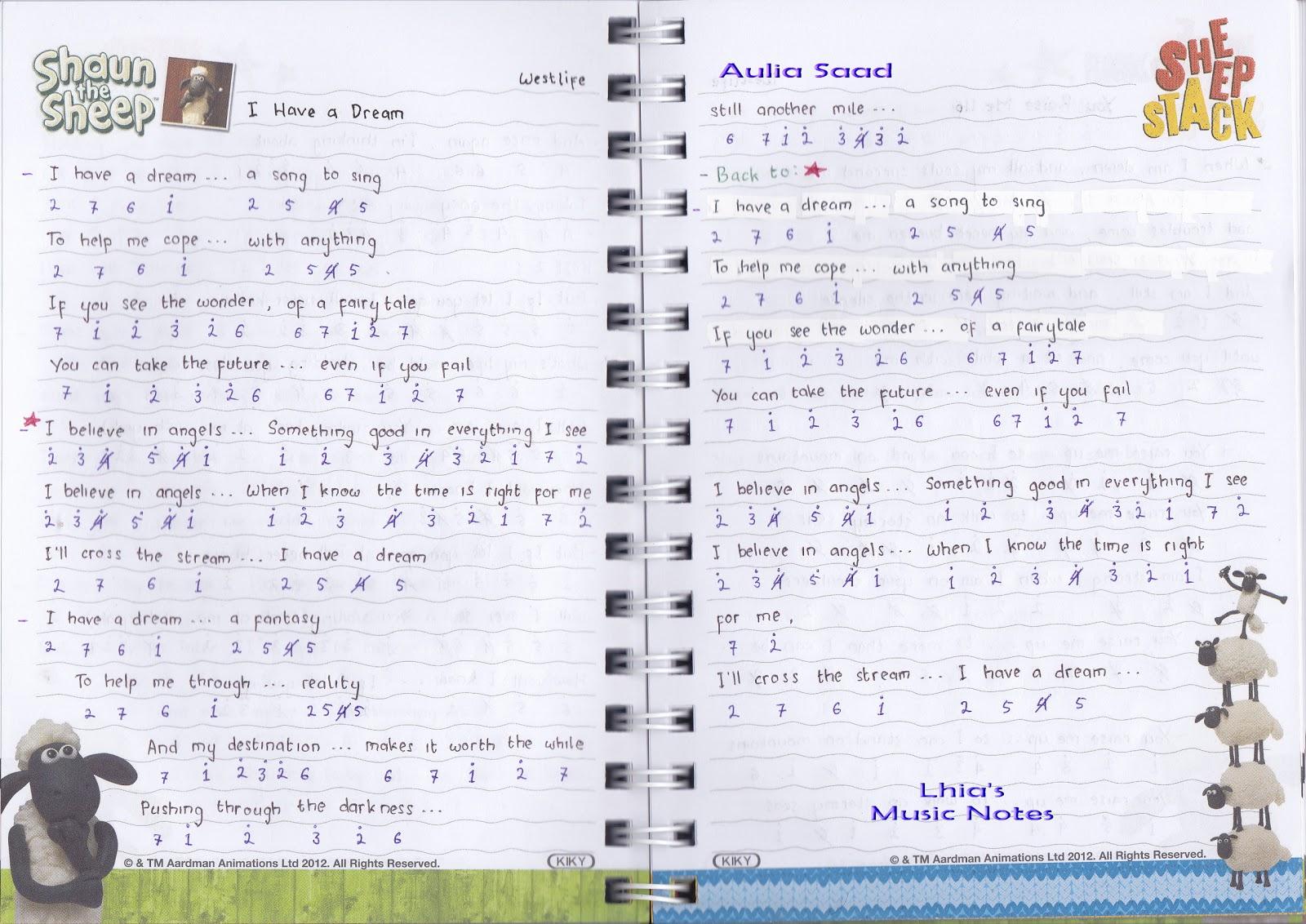 Catatan Not Lagu – Westlife (Piano Pemula)
