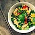 Δροσερή γαλλική σαλάτα με τόνο, καλαμπόκι και κουκουνάρι