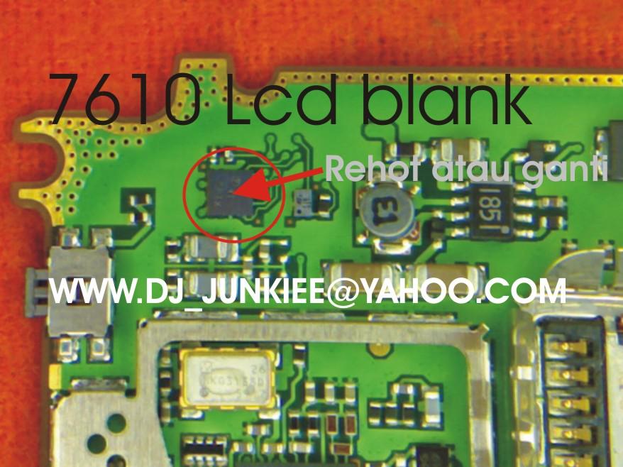 NOKIA 7610 LCD BLANK - Trik Jumper ponsel Nokia, gratis trik jumper