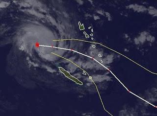 Tropensturm JASMINE zieht als Hurrikan nach Tanna, Vanuatu, Jasmine, Australien, Australische Zyklonsaison, aktuell, Februar, 2012, Satellitenbild Satellitenbilder, Vorhersage Forecast Prognose, Verlauf, Zugbahn,