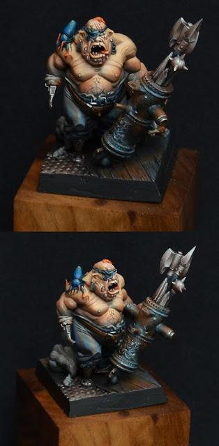 Warhammer Ogro ganador del oro en el Golden Demon de Barcelona 2012