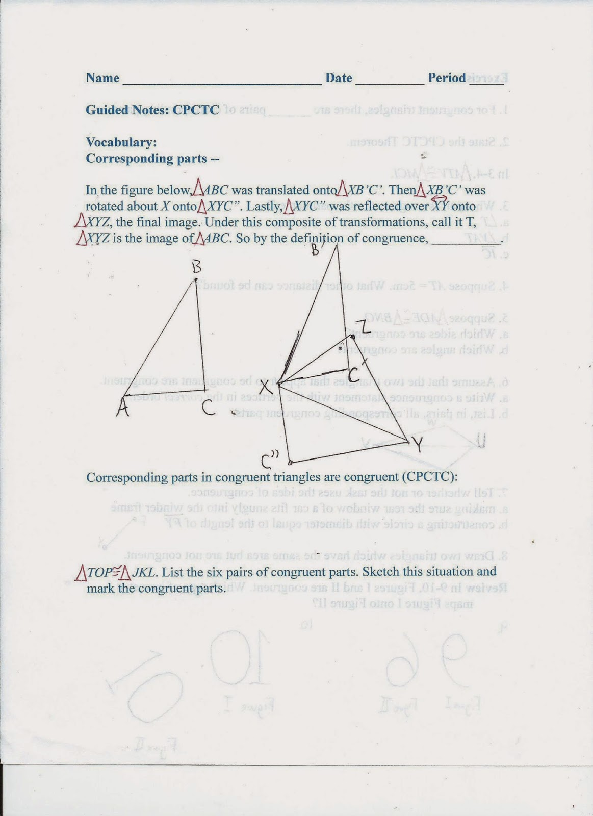 Congruent Triangles Chapter 4.3. Concept 1 Identify Corresponding ...
