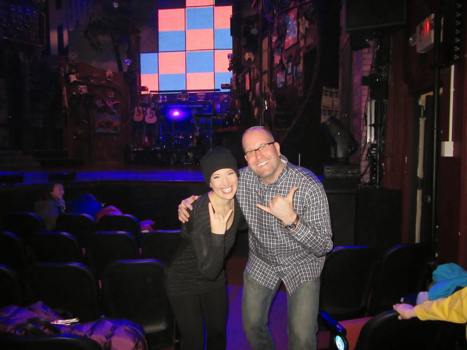 Randi Zuckerberg in Rock of Ages on Broadway with Rabbi Jason