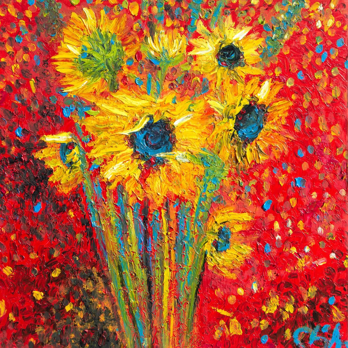 Chiara Magni Red Sunflowers