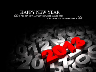 Happy New Year 2013 HD Wallpaper With Quotes
