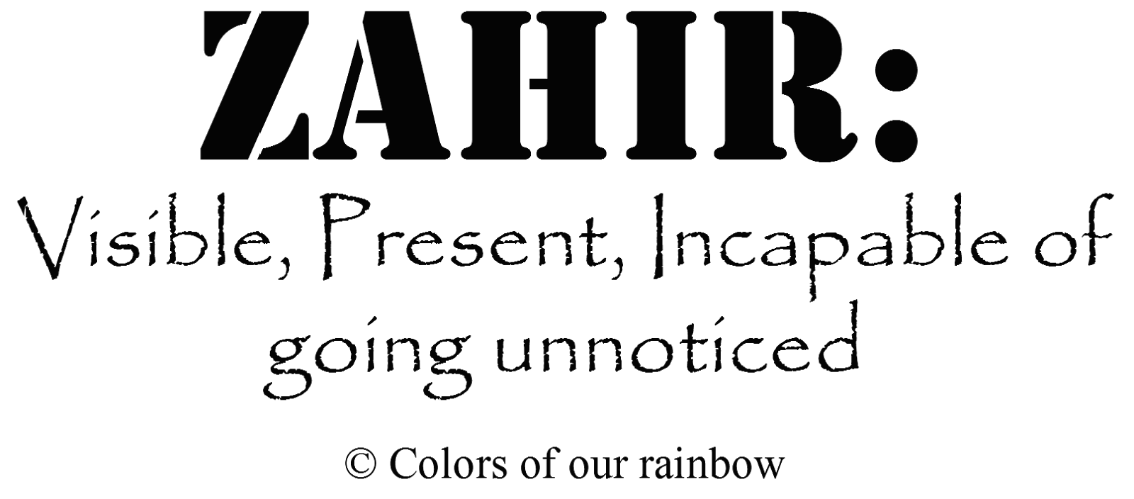 The Zahir @http://colorsofourrainbow.blogspot.ae