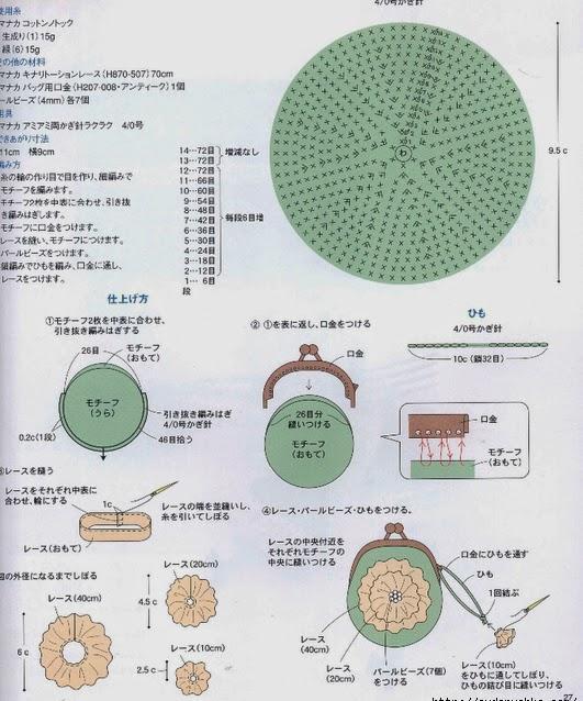 Вязаные кошельки на фермуаре крючком