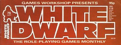 Logotipo de la White Dwarf a partir del número 39