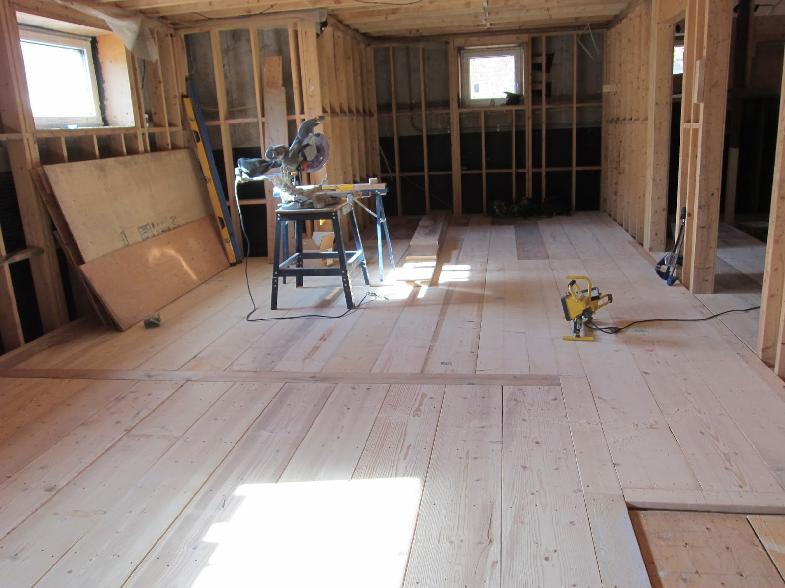 basement floors and interior or exterior insulation placement