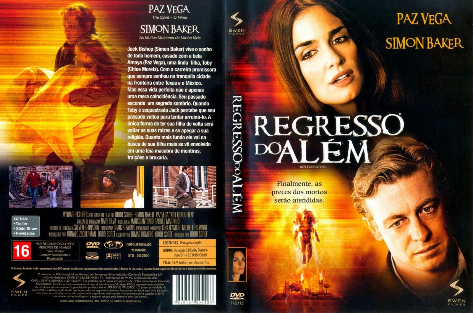 Filme Regresso Do Além DVD Capa
