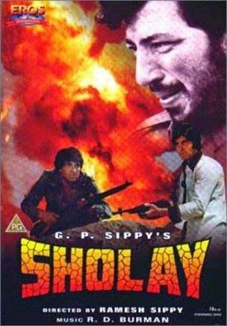 Sholay 1975 Hindi 720p DVDRip 1.3GB ESub