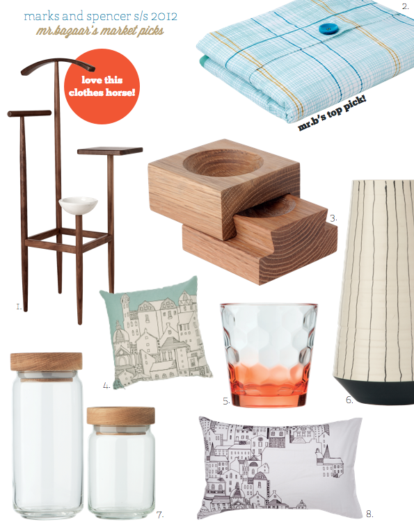 marks spencer s s 2012 home collection bright bazaar. Black Bedroom Furniture Sets. Home Design Ideas