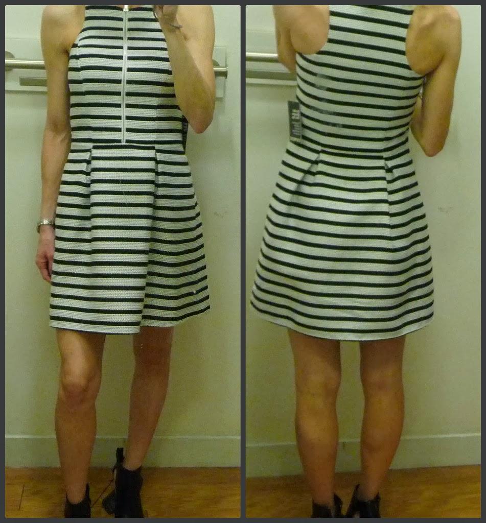 Express sleeveless textured front zipper dress, review