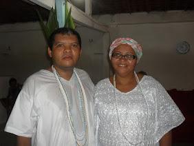 Mãe Kathia de Oxalá e seu irmão Ícaro de Oxalá