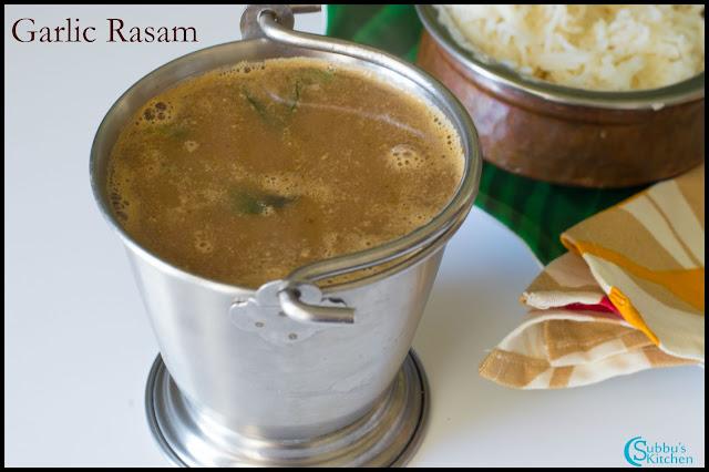 Poondu Rasam(Garlic Rasam)