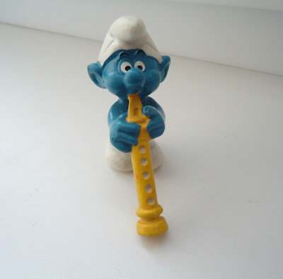 Oboist Smurf Figure Peyo West Germany Bully